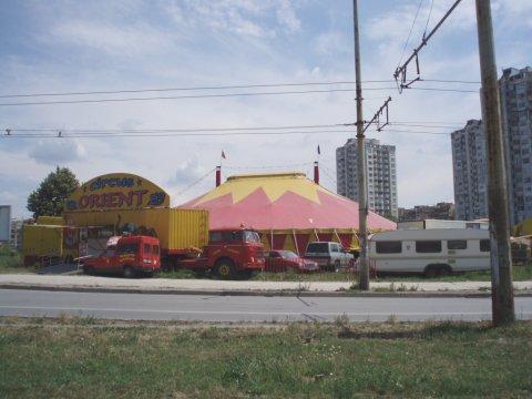 Foto de la carpa del Circo