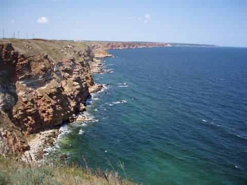 vista desde el cabo Kaliakra hacia el norte